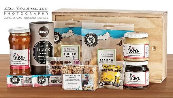 Wooden box food hamper for Dare to Delight