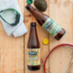 Zooka energy and lemon flavoured kombucha tea flat lay image