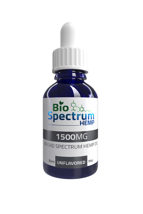 1,500mg Unflavored Broad Spectrum Hemp Oil