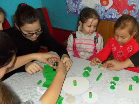 В Большедмитровском СДК дети готовятся к празднику
