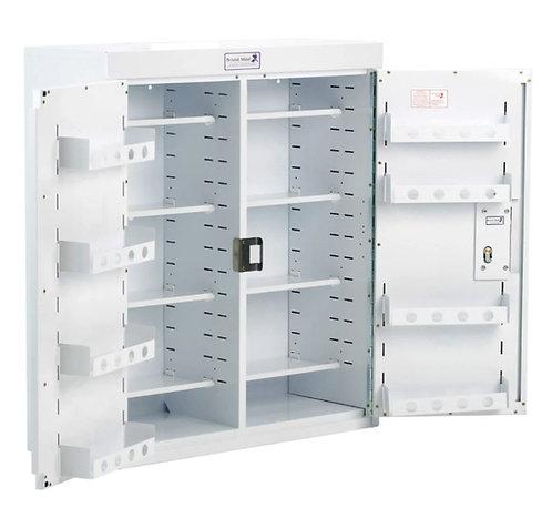 Medisinskap PC m/dobbel dør og dørhyller, låsbart
