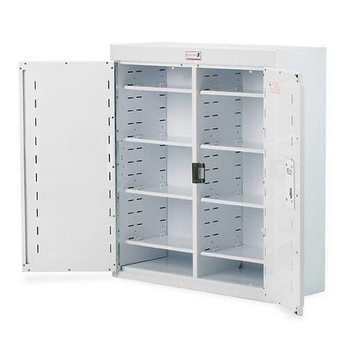 Medisinskap PC m/dobbel dør og dype hyller, låsbart