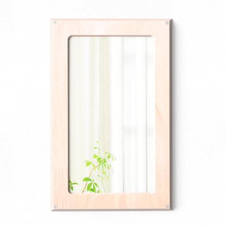 Speil av bjørk i uknuselig polykarbonat