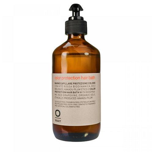 Color protection hair bath