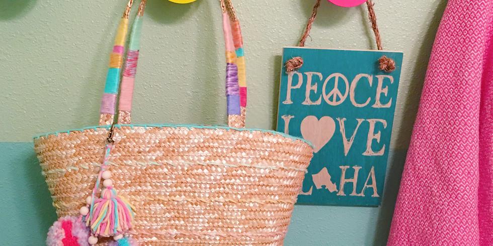 Woven Beach Bags by Mini Maven Social