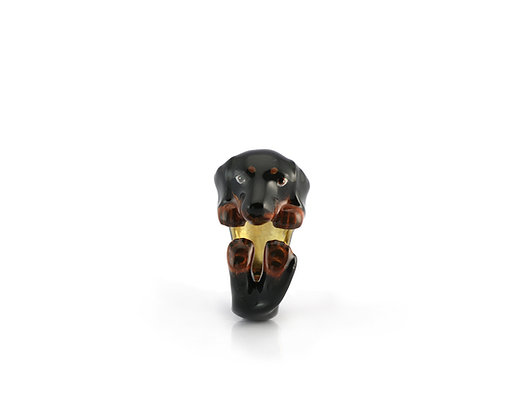 Beagle Hug Ring ,Black