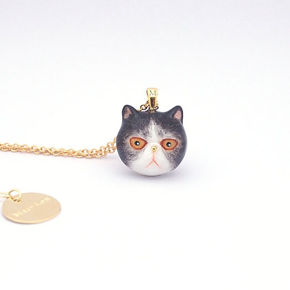 Exotic Shorthair Cat Head Necklace