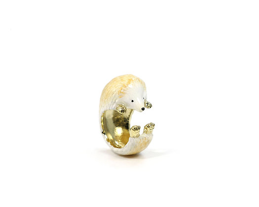 Hedgehog Hug Ring ,white