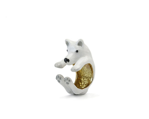 Husky Hug Ring ,white