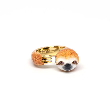 Sloth Hugging Finger Ring