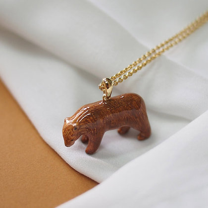 Brown Bear Necklace