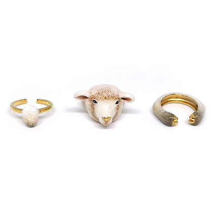 3-Piece Sheep  Rings