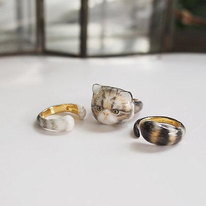3-Piece Persian Cat Rings