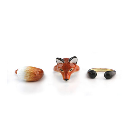 3-Piece Fox Rings, Red