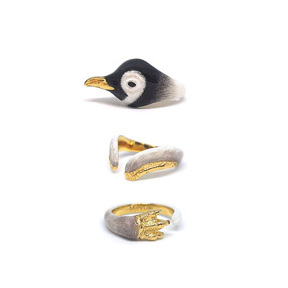 3-Piece Baby Penguin Rings