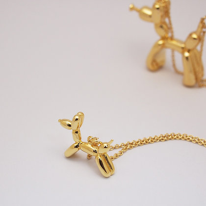 Balloon Dog Necklace(small) ,Gold