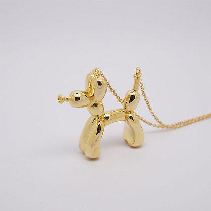 Balloon Dog Necklace Gold