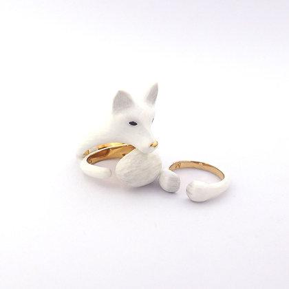 3-Piece Fox Rings, white