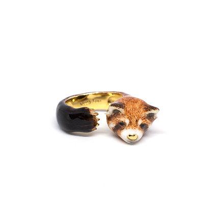 Red Panda Hugging Finger Ring