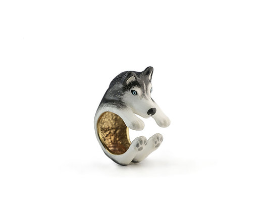 Husky Hug Ring ,Black