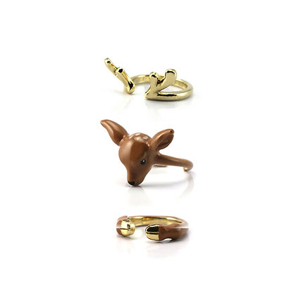 3-Piece Deer Rings