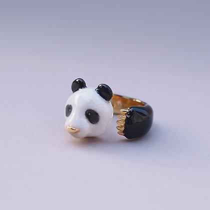 Panda Hugging Finger Ring