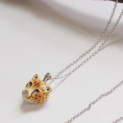 Cheetah Head Necklace