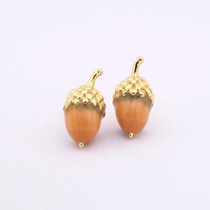 Little Acorn Earring Yellow