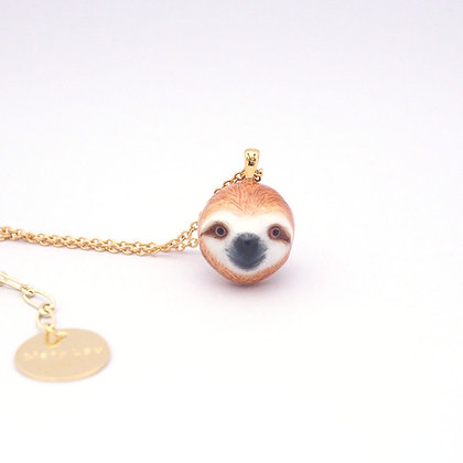 Sloth Head Necklace