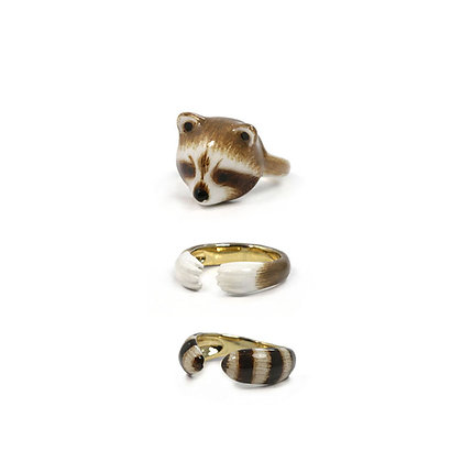 3-Piece Raccoon Rings