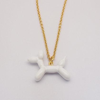 Balloon Dog Necklace(small) ,white