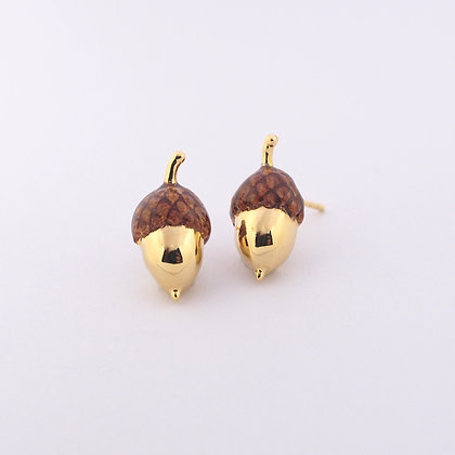 Little Acorn Earring Gold