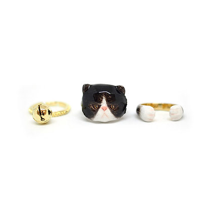 3-Piece Persian Cat Rings