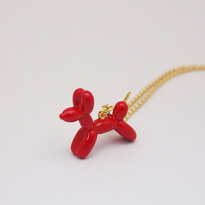 Balloon Dog Necklace(small) ,Red
