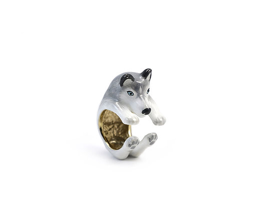 Husky Hug Ring ,Grey