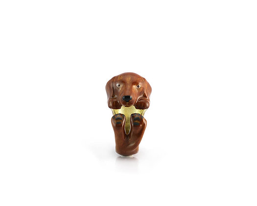 Beagle Hug Ring ,Brown