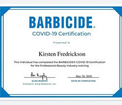 Barbicide COVID-19 Protocols Certification