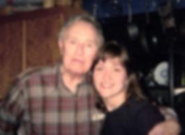 Everet Hedahl, granddaughter Rebecca Bomann, SASH Services, Rebecca and grandpa
