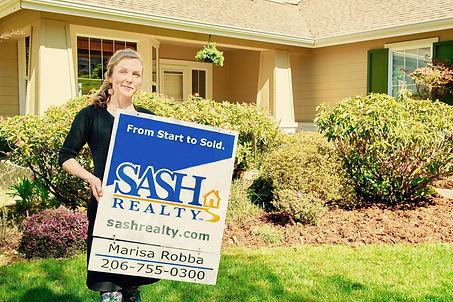 Marisa Robba with SASH Realty home sale
