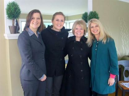 Rebecca Bomann with Elder Care Community Members