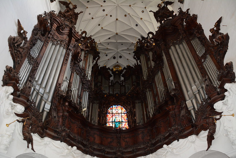 The great organs in the cathedral in Gdańsk Oliwa