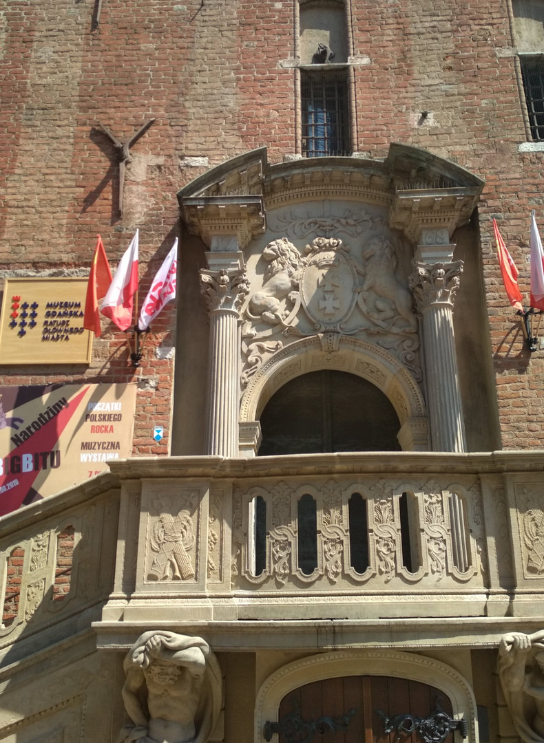 Das Portal im Rechtstädtische Rathaus in Danzig