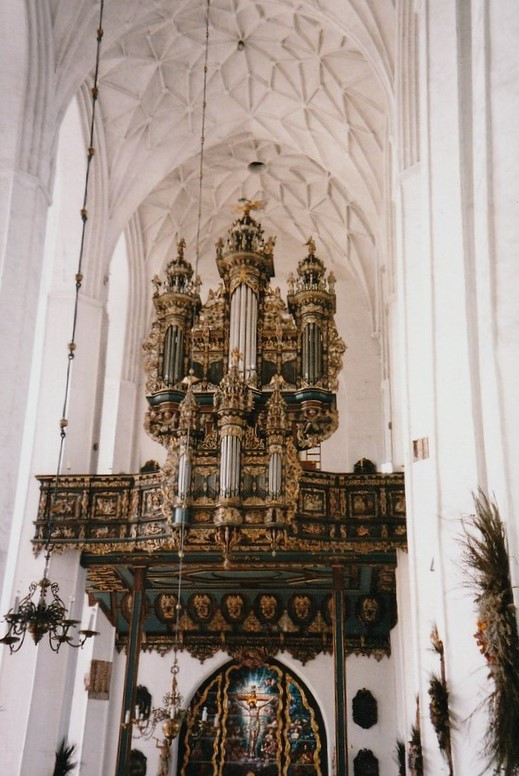 The great organs in the St. Mary's Church in Gdańsk