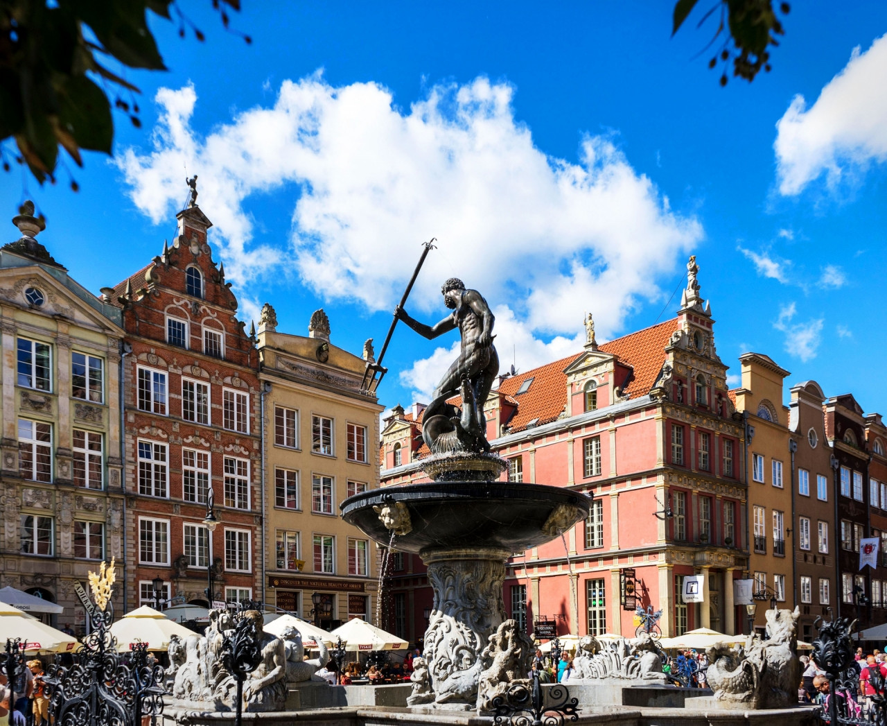 The Neptune's Fountain in Gdańsk