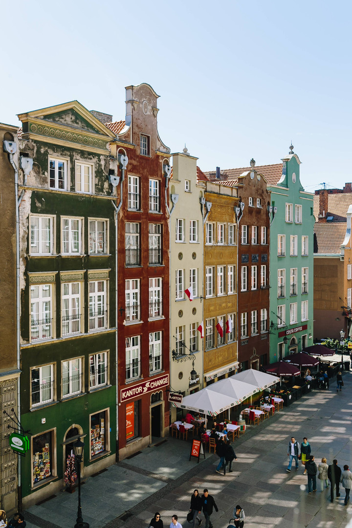 The tenements in Gdańsk
