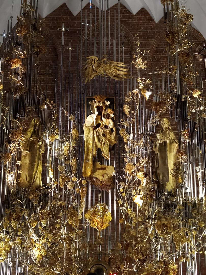 Amber Altar in St.Brigitte's Church in Gdańsk