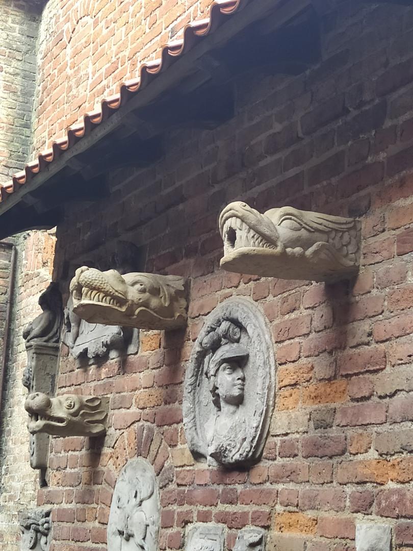 Der Wasserspeier im Stockturm in Danzig