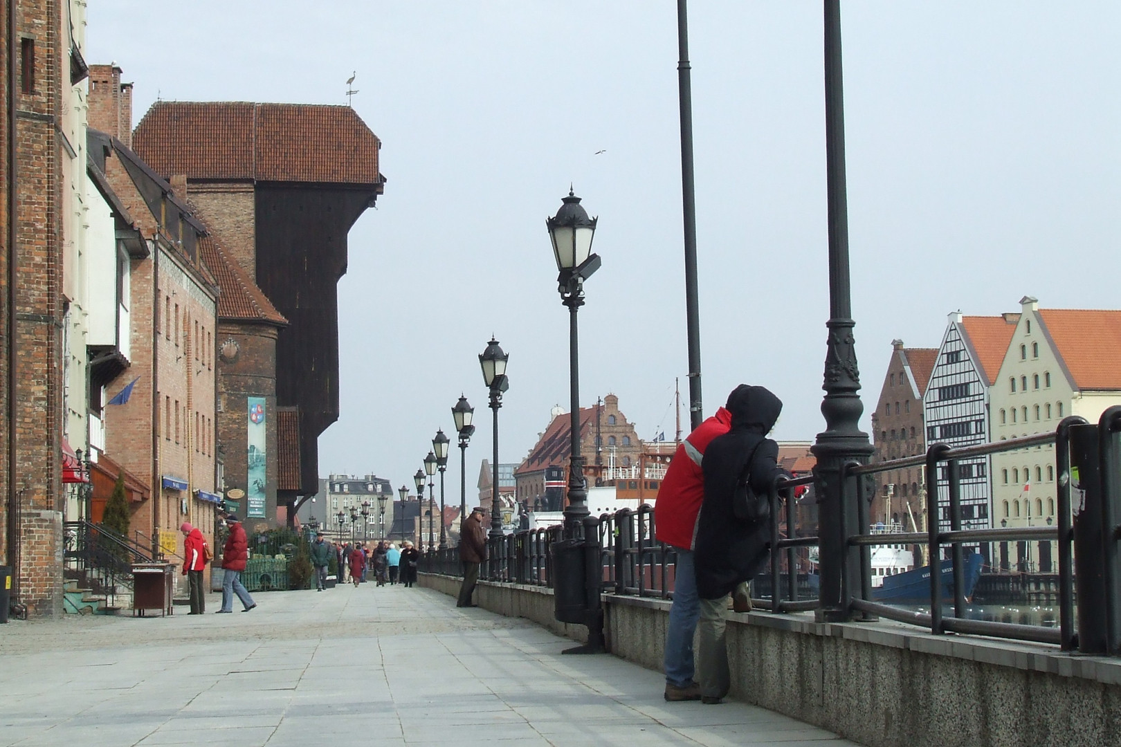 Das Krantor an der Lange Brücke in Danzig