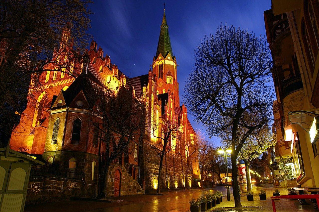 Die St.Georgs Kirche in Zoppot