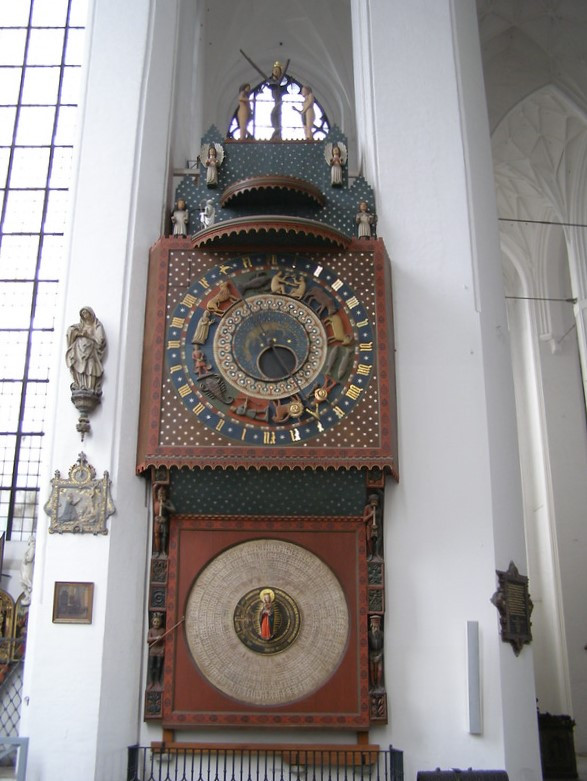 The astronomical clock in the St. Mary's Church in Gdańsk